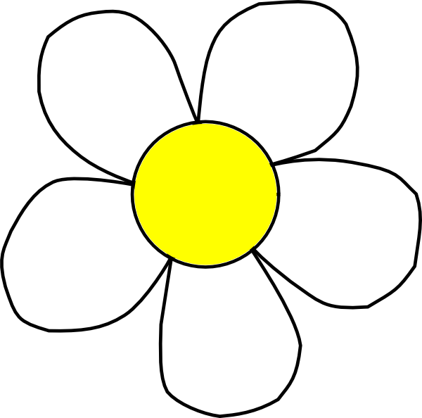 600x594 Black And Yellow Daisy Clip Art