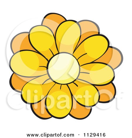 450x470 Cartoon Of A Yellow Daisy Flower