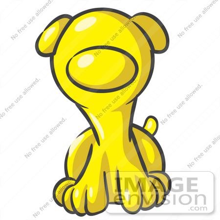 450x450 Clip Art Graphic Of A Yellow Puppy Dog