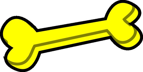 600x306 Dog Bone Yellow Clip Art