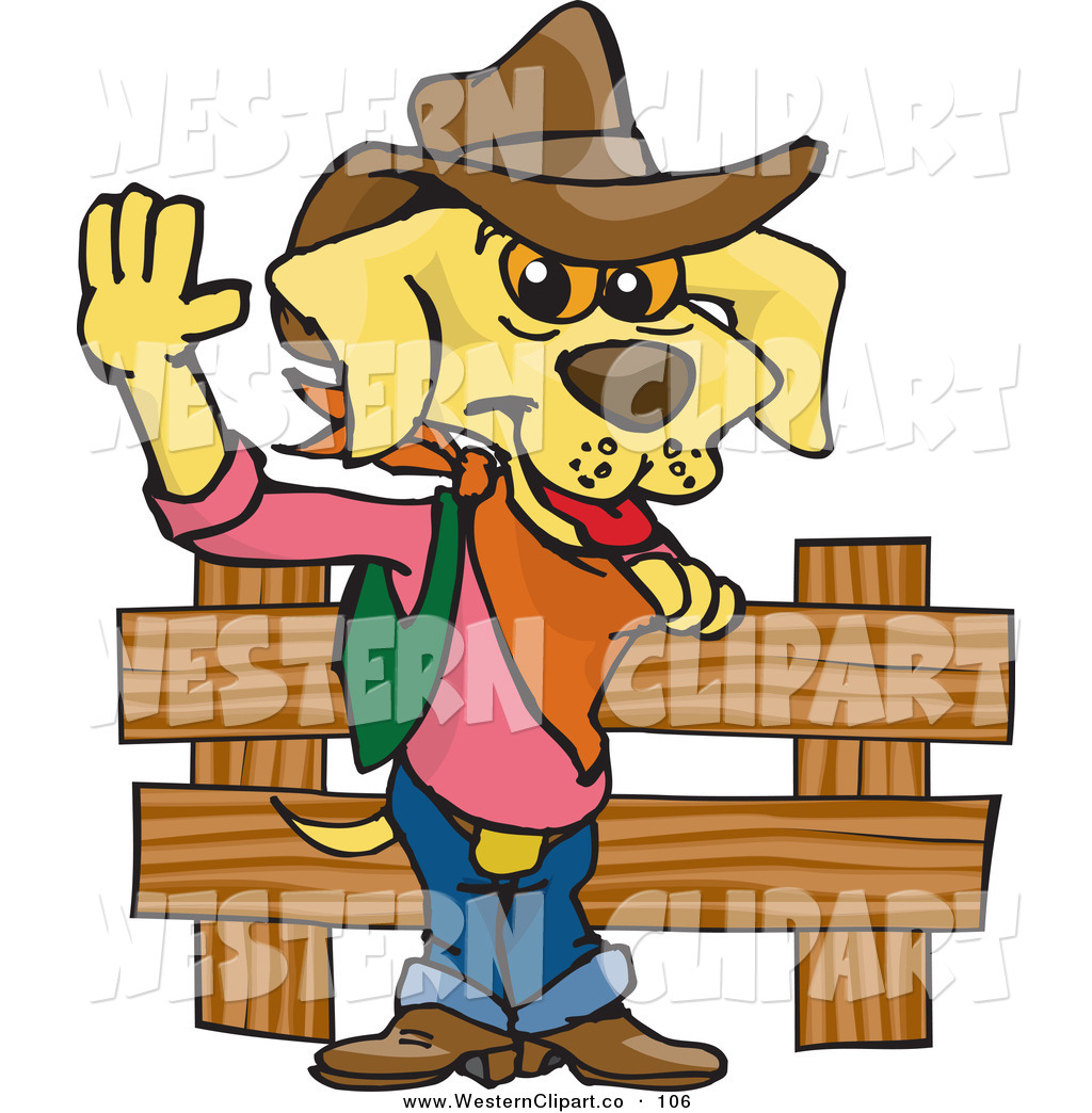 1024x1044 Vector Western Cliprt Of Cowboy Yellow Labrador Dog By