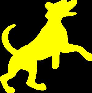 297x300 Yellow Dog Clip Art