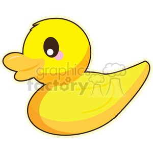 300x300 Royalty Free Cartoon Duck Illustration Clip Art Image 393838