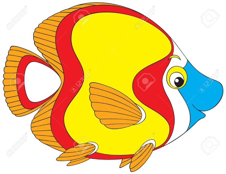 Yellow Fish Clipart