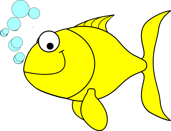 600x460 Tropical Fish Clipart Yellow Fish