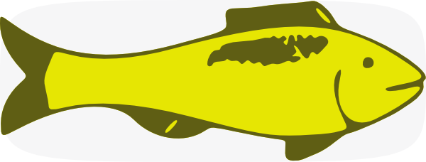 600x228 Yellow Fish Clip Art
