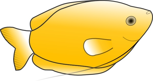 600x318 Yellow Fish Clip Art Free Vector In Open Office Drawing Svg ( Svg