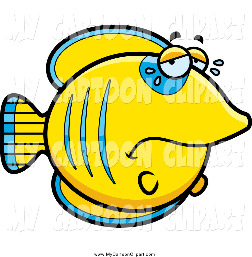 1024x1044 Clip Art Of A Crying Sad Blue And Yellow Butterflyfish By Cory