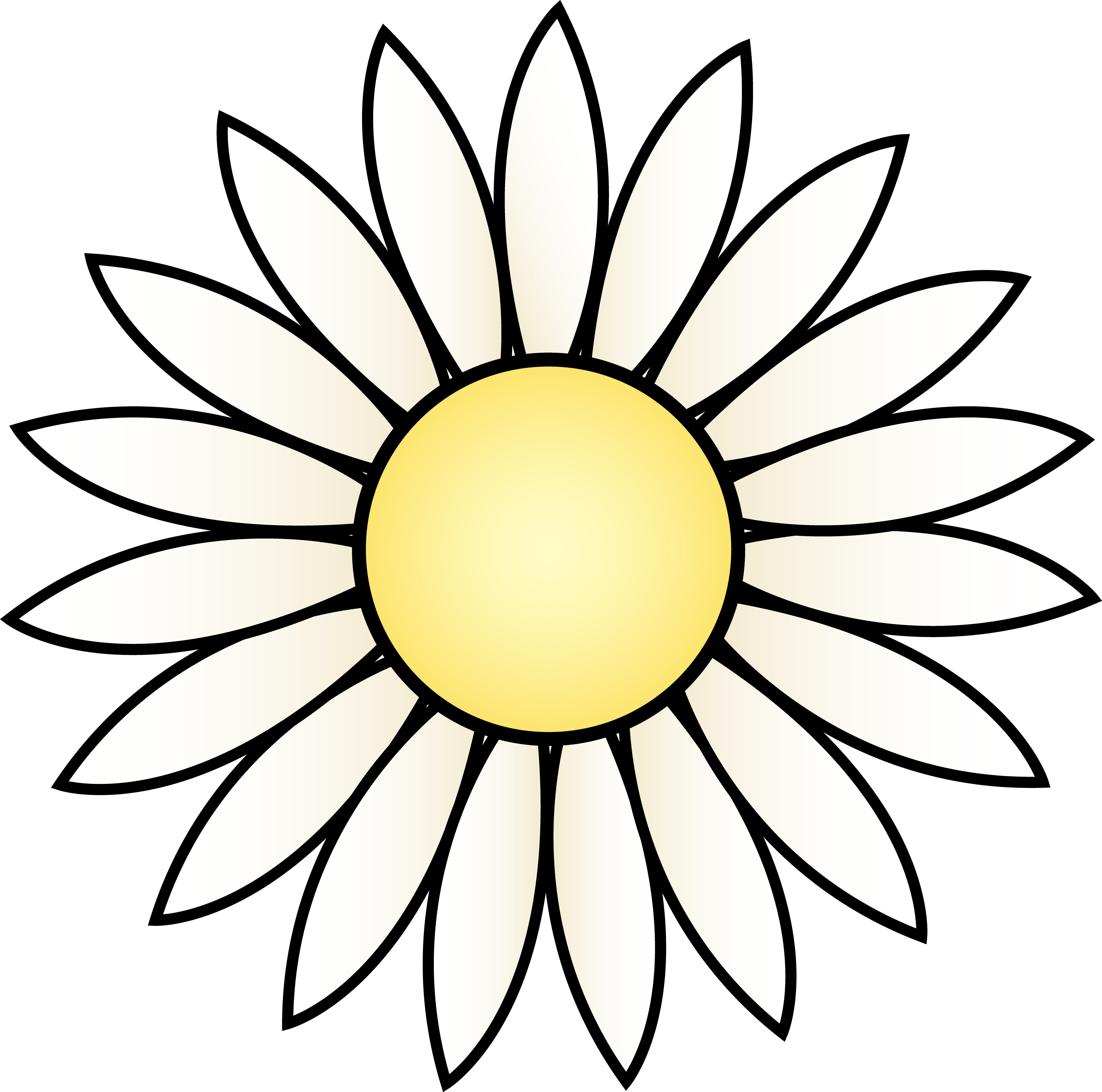 4948x4901 Daisy Clip Art Free Clipart Images 3