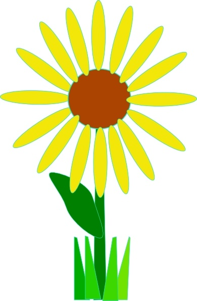 390x596 Simple Yellow Flower Clip Art Free Vector In Open Office Drawing
