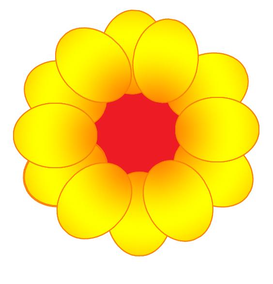 564x586 Yellow Flower Clipart