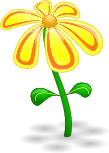 427x599 Yellow Flower Clip Art Free Vector In Open Office Drawing Svg