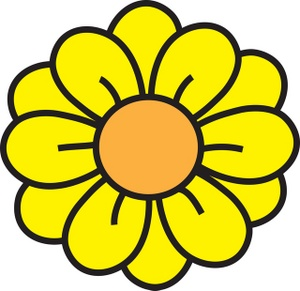 300x291 Yellow Flower Clipart Flowerclip