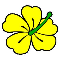 250x250 Yellow Flower Clipart Hibiscus Flower