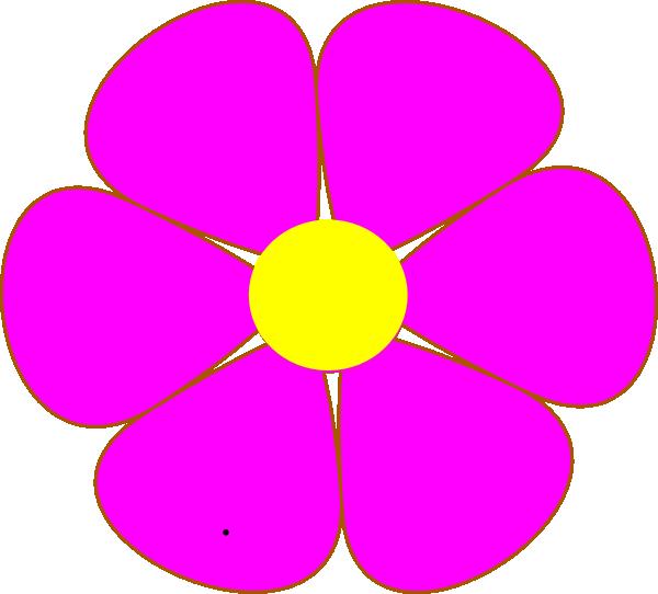 600x542 Yellow Flower Clipart One Flower