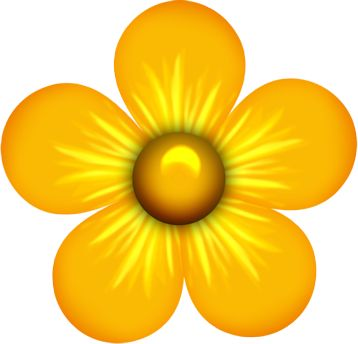 358x344 Yellow Flower Clipart Png Format