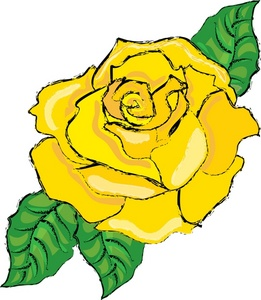 261x300 Yellow Rose Clipart Image