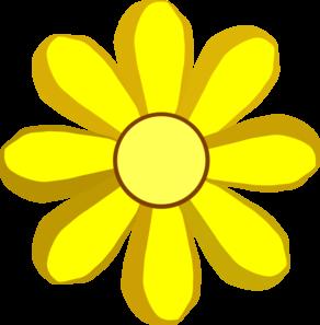 292x297 Yellow Spring Flower Clip Art