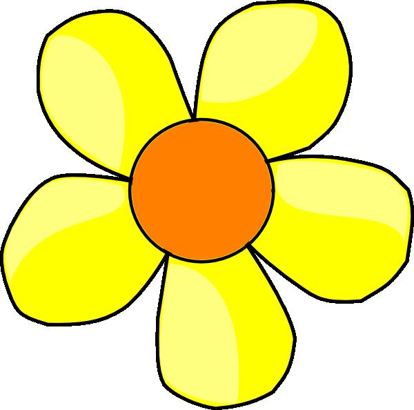 600x594 Yellow Flower Clipart Clipartmonk