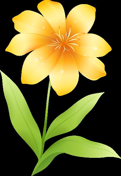 415x600 Clip Art Yellow Flower