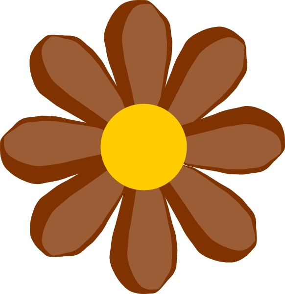 582x599 Brown Flower Clip Art Free Vector In Open Office Drawing Svg