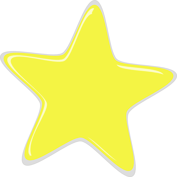 594x595 Free Yellow Stars Clipart Image