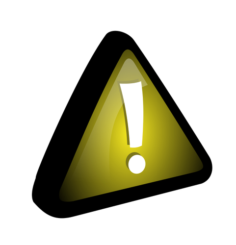 481x500 Vector Drawing Of Exclamation Mark In Yellow Triangle Public