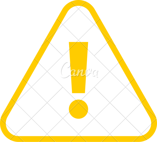 550x499 Yellow Triangle Exclamation Mark Icon
