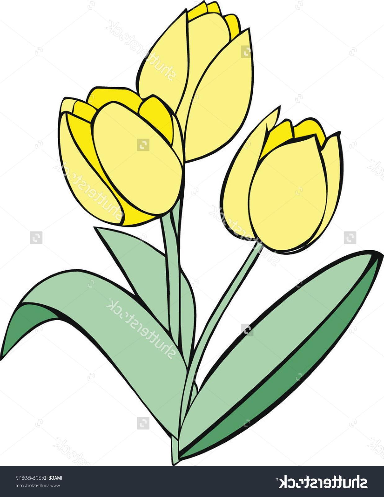 Yellow Tulip Clipart |...