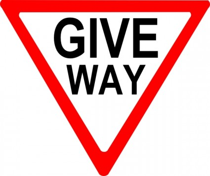 425x357 Give Way Sign Clip Art Clipart Panda