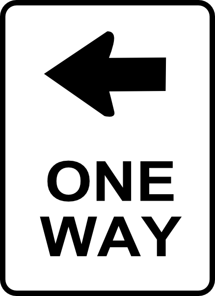 438x602 One Way Traffic Sign Clip Art Free Vector 4vector