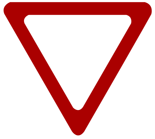 Yield Sign Clipart