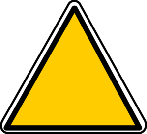 299x273 Yellow Triangle Sign Clip Art
