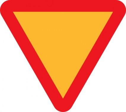425x377 Yellow Yield Sign Clipart Clipart Panda