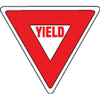 320x320 Yield Sign Clipart