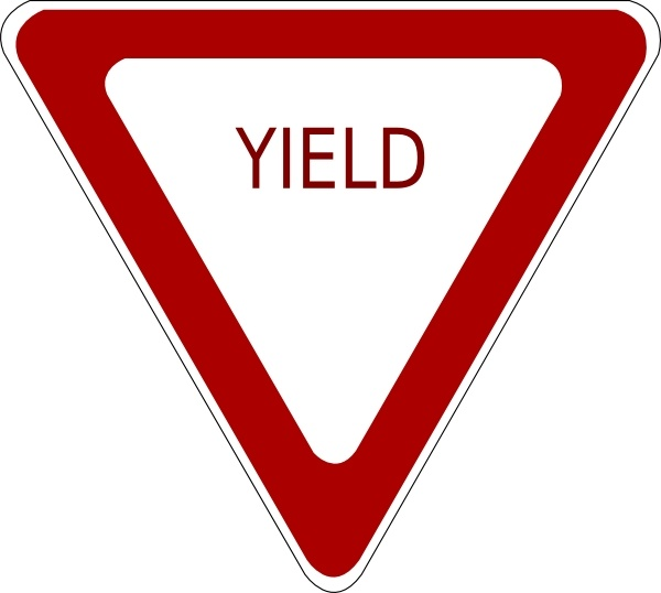 600x538 Yield Sign Clip Art Free Vector In Open Office Drawing Svg ( Svg