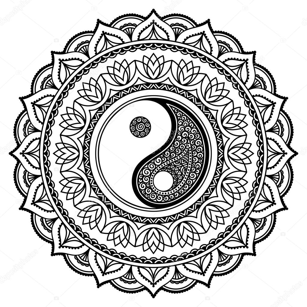 Yin Yang Coloring Pages Free Download On Clipartmag
