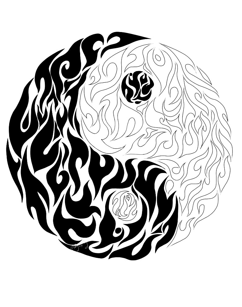 Yin Yang Coloring Pages Free Download Best Yin Yang