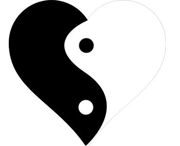 370x300 417 best yin yang images candies chris d39elia and - Yin Yang Coloring Page