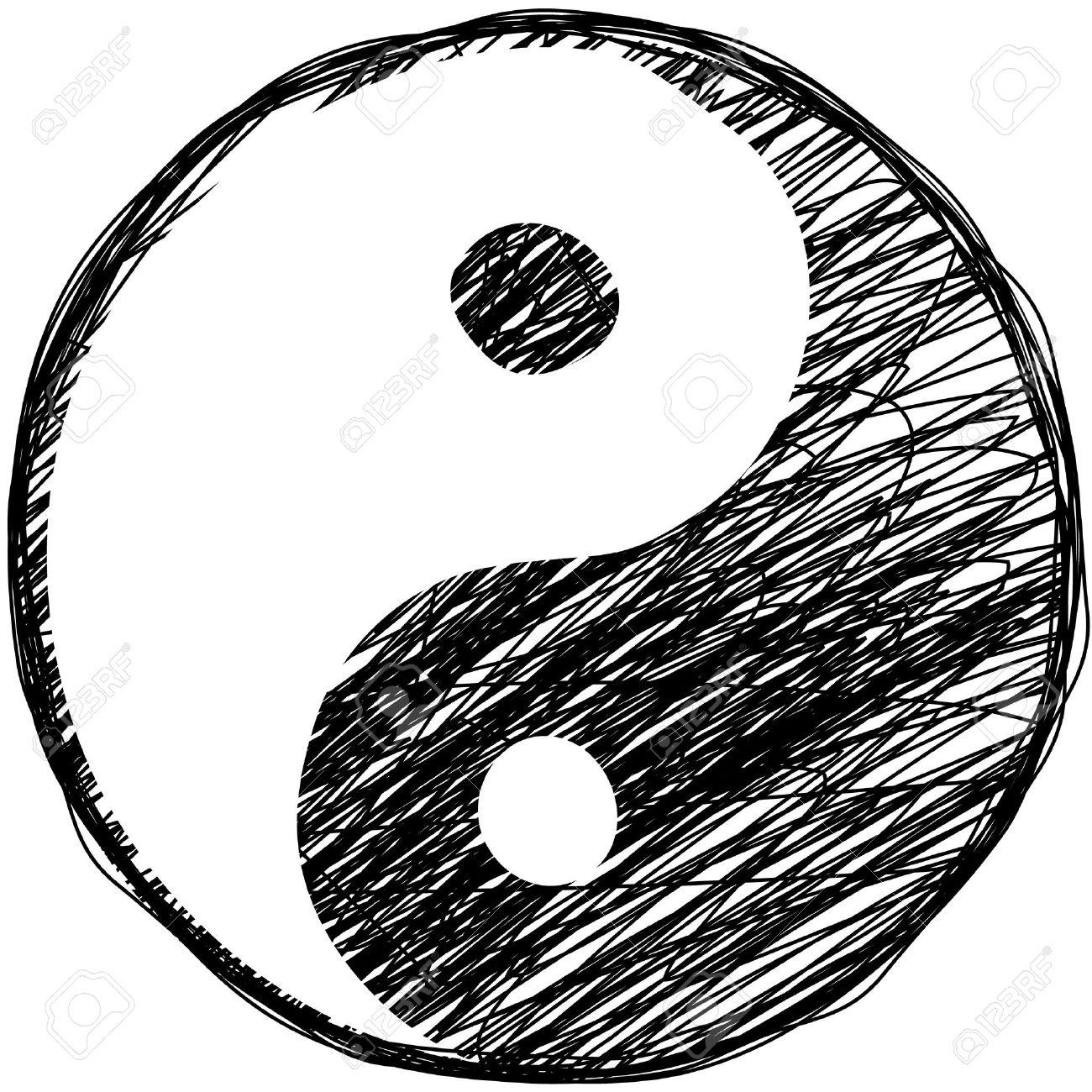 1300x1300 Drawn Symbol Yin Yang