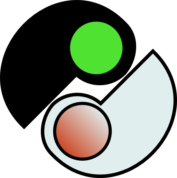 594x596 One And Two Yin Yang Clip Art Free Vector In Open Office Drawing
