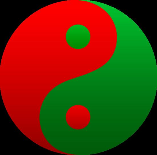 550x545 Red And Green Yin Yang Symbol