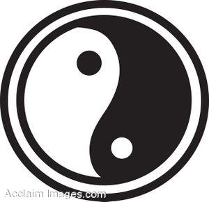 300x291 Black And White Yin Yang Clip Art