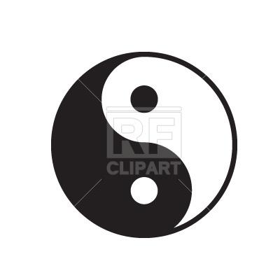 400x400 Yin Yang Symbol Free Vector Clip Art Image