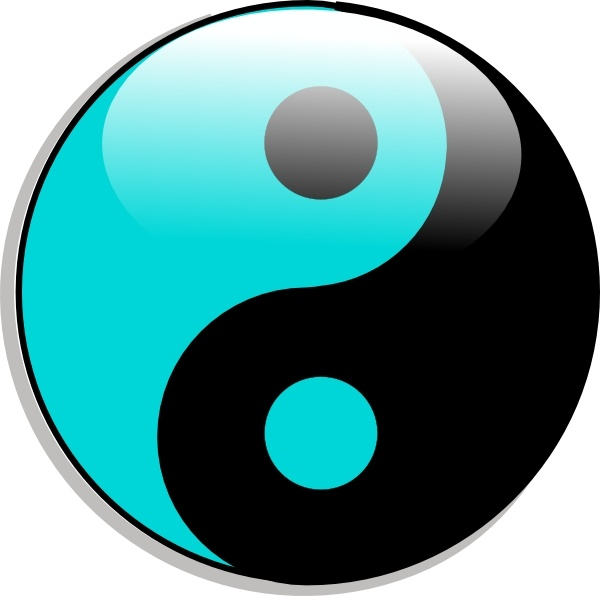 600x596 Yin Yang Clip Art Free Vector In Open Office Drawing Svg ( Svg