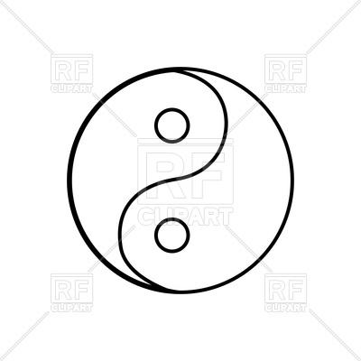 400x400 Yin Yang Symbol Royalty Free Vector Clip Art Image