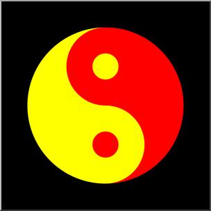 304x304 Clip Art Yin Yang Symbol Color 2 I Abcteach