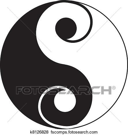 444x470 Clip Art Of Yin Yang Tattoo K8126828