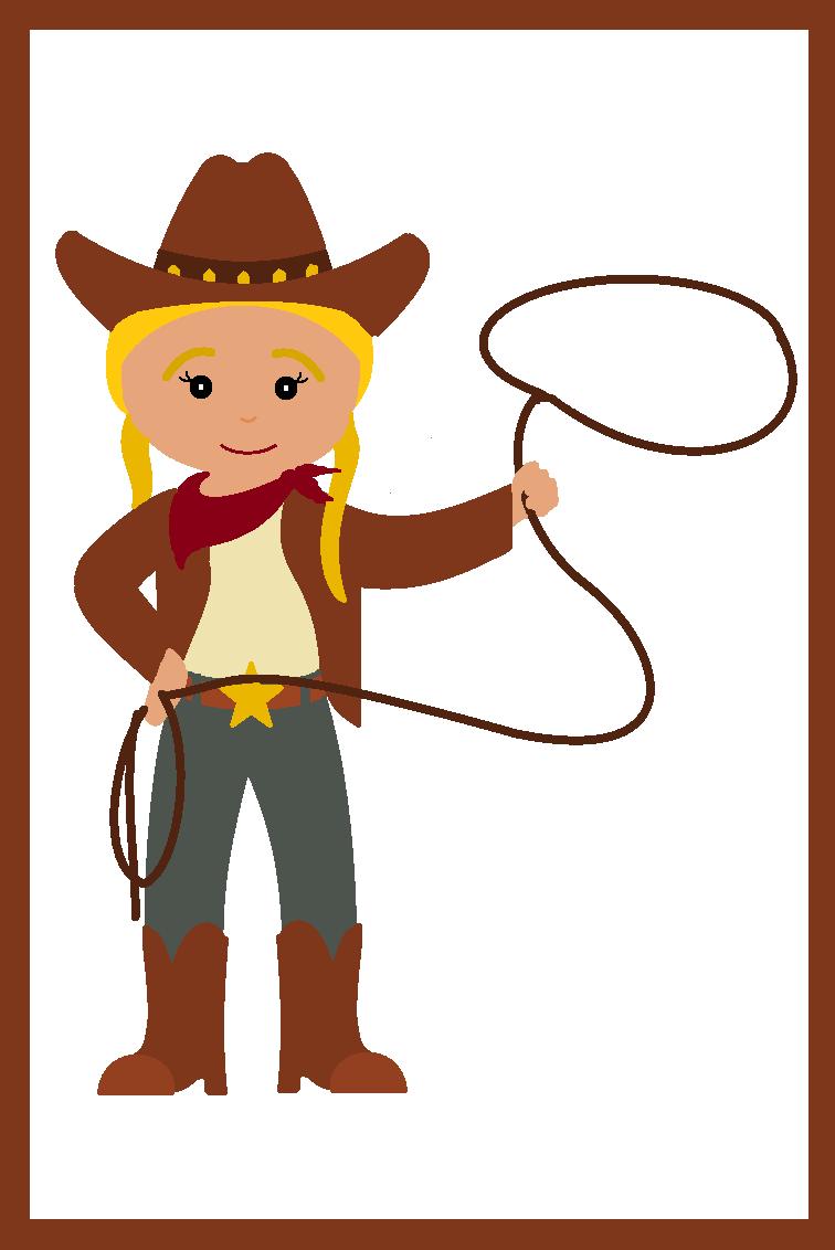756x1132 Cowgirl Clipart Cartoon