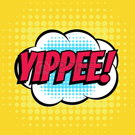 450x450 Yippee Comic Book Bubble Text Retro Style Royalty Free Cliparts